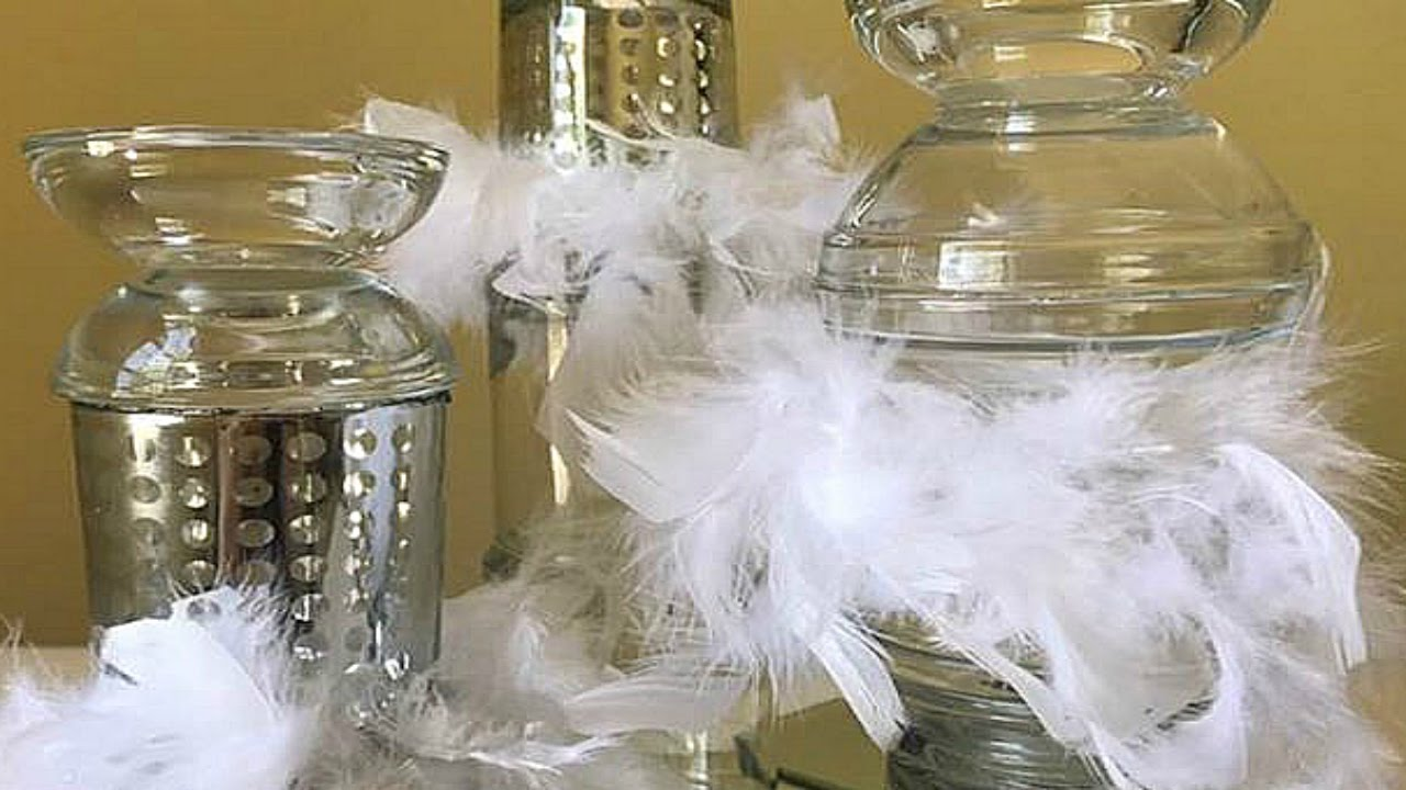 Dollar Tree Diy Candle Holder Designs Feather Boa Table