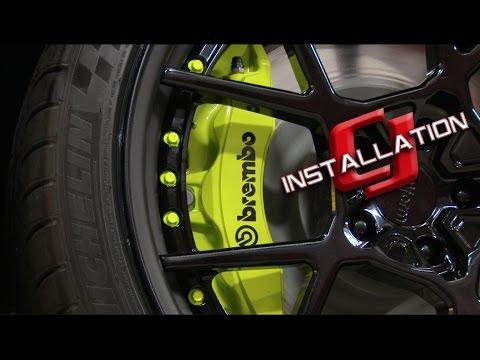 "2015-2019 Mustang Ford Performance Front Brake Kit 6-Piston Brembo Conversion 15"" Installation ..."