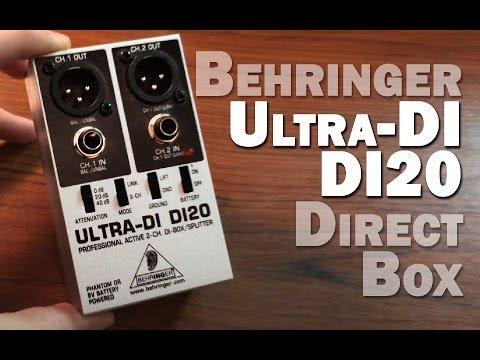 Behringer Ultra-Di Di20 Professional Active 2-Channel Di-Box//Splitter Musical Ne