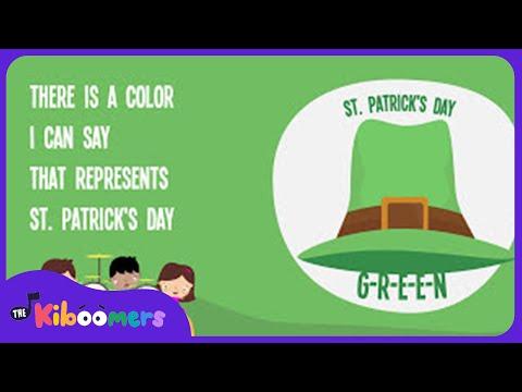 G-R-E-E-N St Patrick's Day | Song Lyrics Video for Kids | The Kiboomers