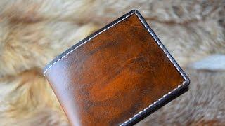 Уроки работы с кожей. Делаем Оригинальный кошелек www.muzylevstyle.ru