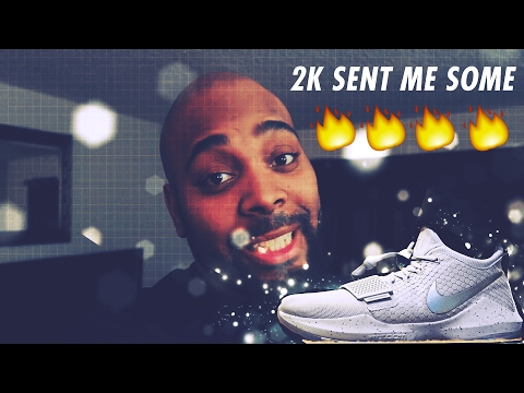 NIKE PAUL GEORGE PG1 SHOES !! I GOT SOME HEAT FROM 2K SPORTS + ON FEET REVIEW !