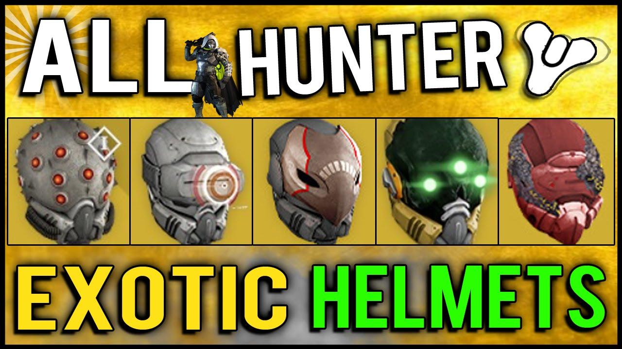Destiny all year 1 hunter exotic helmets review hidd doovi