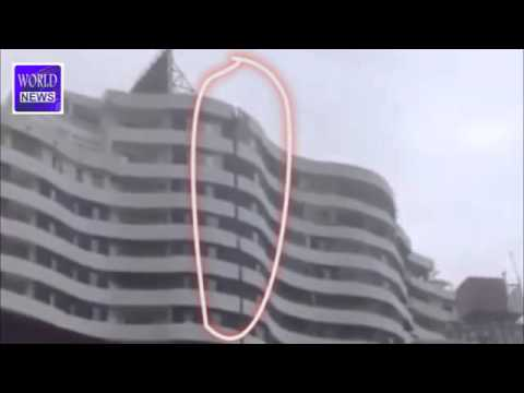 Earthquake In Nepal 2015   19 Storey Silver City Apartment Shaking