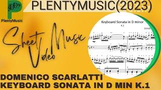 Scarlatti Domenico    Keyboard Sonata in D minor K.1