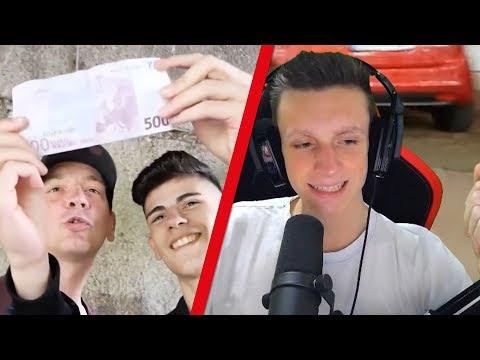 V Skillz SCHENKT Obdachlosen 500€!   Firegoden Reaction