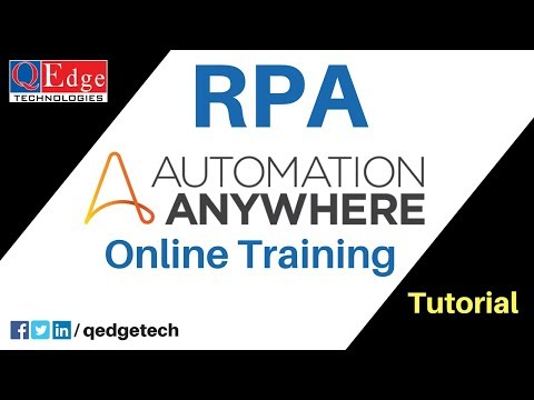 Automation Anywhere Online Training | RPA Tutorials for Beginners