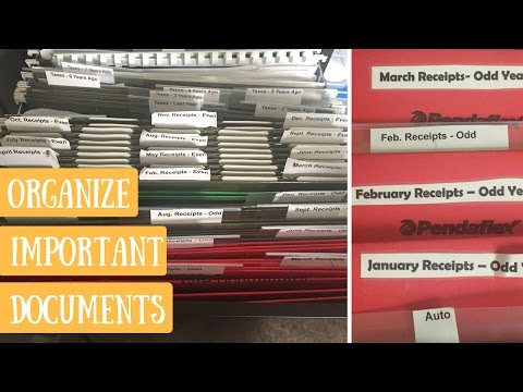 How To Organize Your Life Documents | Office & Receipt File Organization