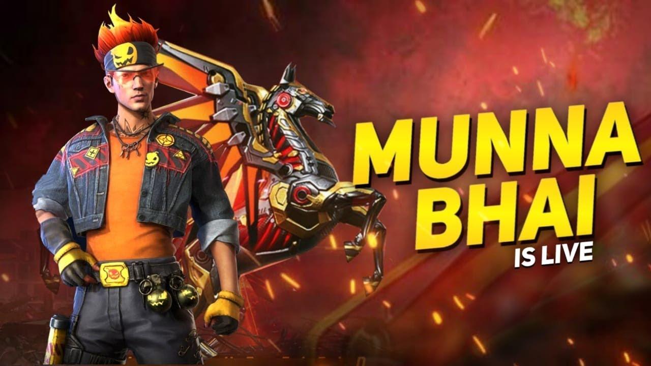 Free Fire Live With Munna Bhai - Free Fire Telugu - Free Fire Live Telugu