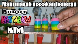 "Tiny cooking ""MINI RAINBOW PUDOT"" 