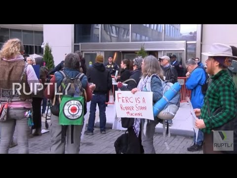 USA: Activists protest fracking outside Federal Energy Regulatory Commission HQ