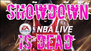 SHOWDOWN is DEAD - PAY TO PLAY - $100 to compete for top spots - NBA LIVE MOBILE