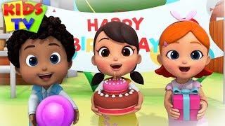 Happy Birthday Song | Kindergarten Nursery Rhymes & Songs for Babies | Kids Cartoon Videos