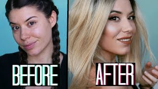 BIONDA PER 24 ORE?!? BEFORE AND AFTER TRANSFORMATION! | Adriana Spink