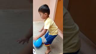 Balaji playing with balloon...
