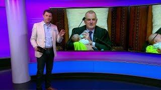 رئيس برلمان نيوزيلاند يرضع طفلا أثناء جلسة نقاش في البرلمان