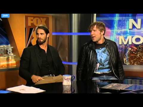 The Shield Fox 8 Interview (Ambrose flirts with news anchor)