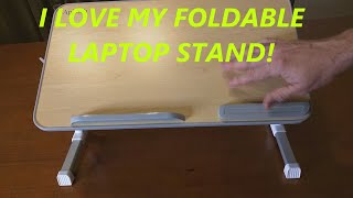 REVIEW of APLOMB Foldable Laptop Table Stand, Adjustable Laptop Stand