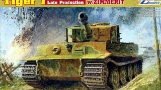 Building The Dragon 1/35 Tiger 1  with zimmerit part 1