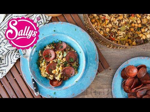 Sucuk-Reis-Pfanne mit Gemüse / mit Natur- und Wildreis