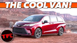 (www.tflcar.com) meet the 2021 toyota sienna hybrid. with all wheel drive and a refrigerator this new van could be ultimate overland family hauler. ( htt...