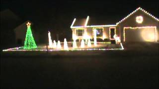 Christmas Light Show - Little Drummer Boy by Pentatonix!