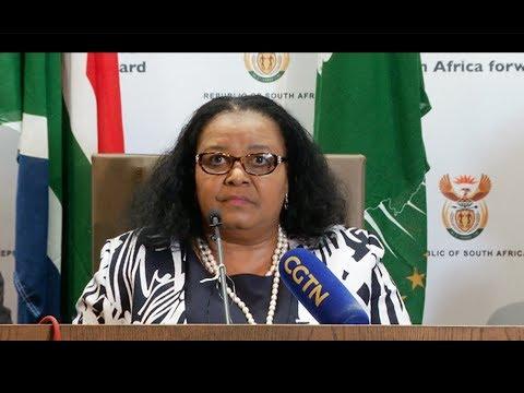 Minister Edna Molewa briefs media on fight against Rhino Poaching