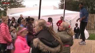 Workshop van Juvat Westendorp op het Richard Krajicek Playgrounds in Leidschendam