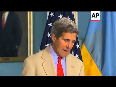 As the crisis in Ukraine deepens, Secretary of State John Kerry said Tuesday the U.S. and the Europe