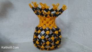 New Model Plastic Wire Flower Pot or Flower Vase without Bangle ( Model - 3)