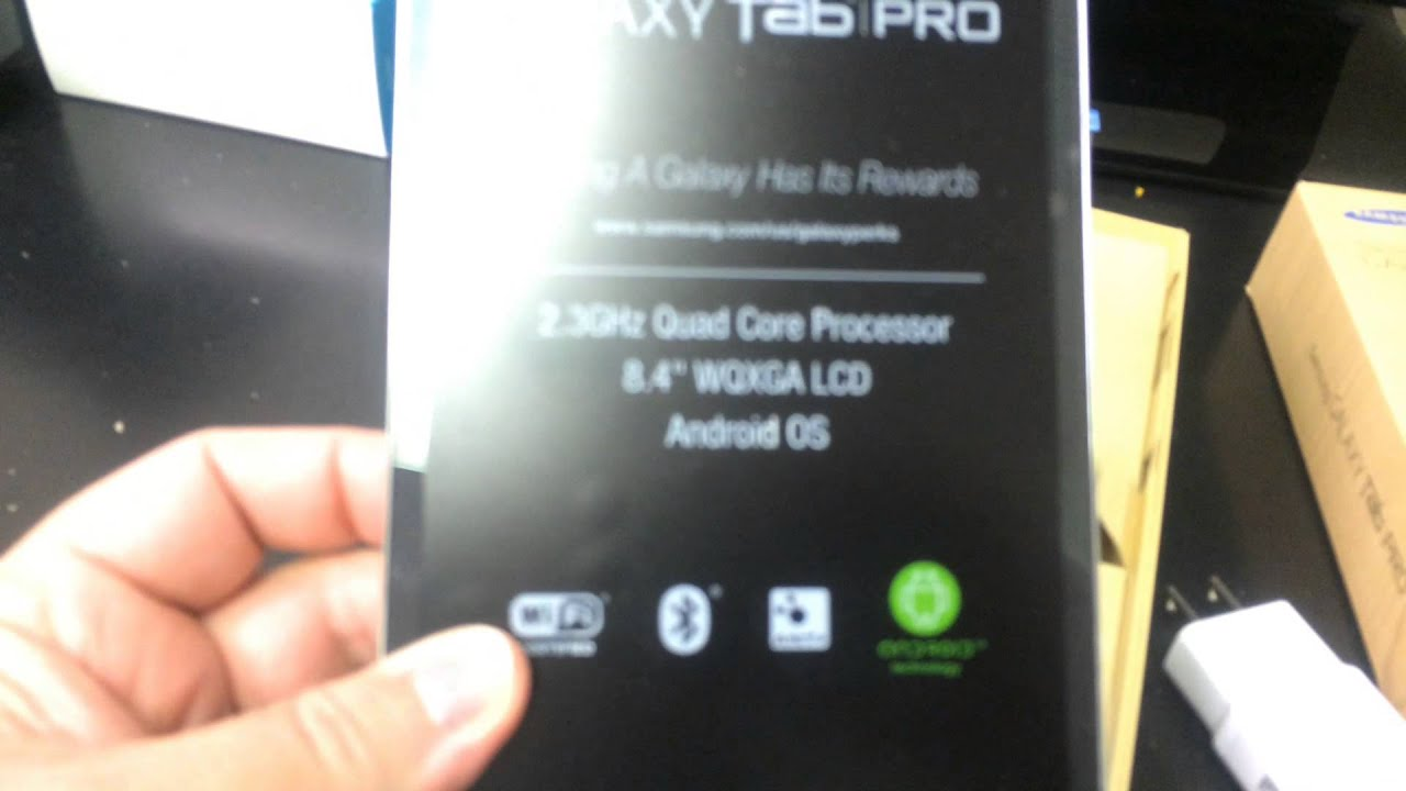 SAMSUNG GALAXY TAB PRO 8 4 SM-T320 Unboxing Video - CELLPHONE in Stock at  www welectronics com