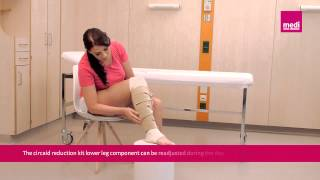 circaid reduction kit lower leg patient donning