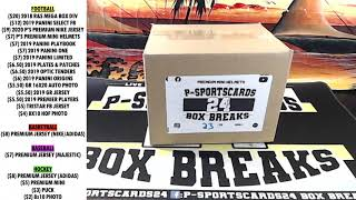 BREAK 25 2020 P SPORTSCARDS24 S AUTOGRAPHED PREMIUM FOOTBALL MINI HELMET LIVE BOX BREAK