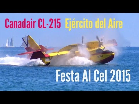 Canadair CL-215 @ Festa Al Cel 2015 - HD 50fps