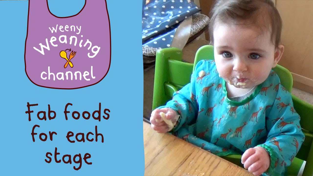 Weaning at 7 Months | Taking on texture | Ella\'s Kitchen - YouTube