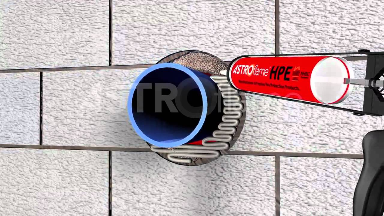 Fire Rated High Pressure Expansion Sealant Youtube