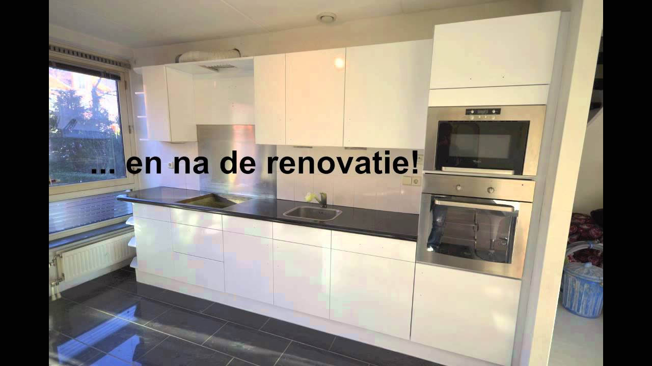 Renovatie van keuken - aanrechtblad en keukenkasten, keukenfronten en ...