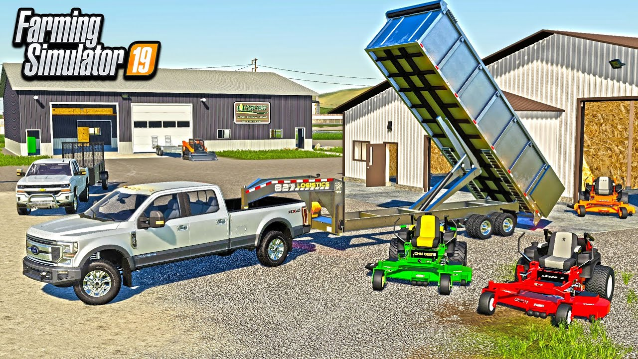 MOWING BUSINESS EXPANSION! (ADDING NEW SHOPS & EQUIPMENT) | FARMING SIMULATOR 2019