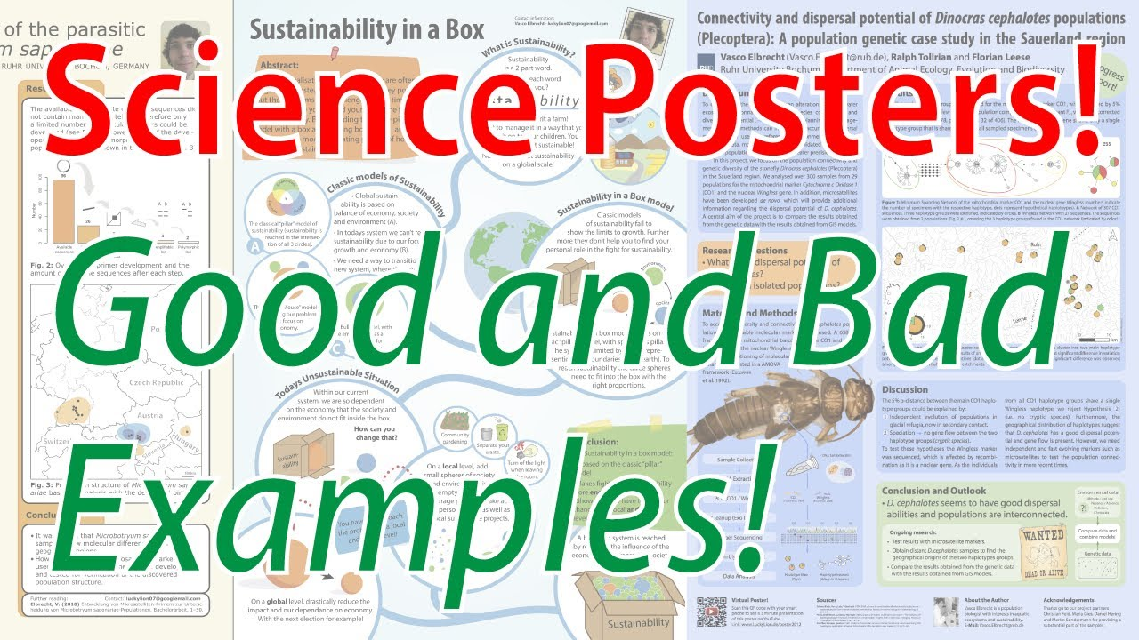 A good poster design - Scientific Poster Design Good And Bad Examples Poster Tutorial Part 2 Youtube