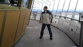 Space Needle super windy