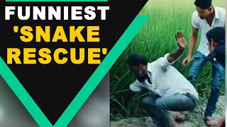 Man pulls out 'snake' from the field with a dramatic twist, video goes viral | Oneindia News