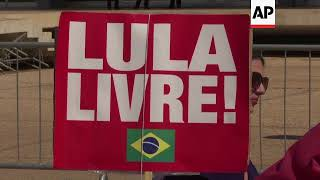 Lula Supporters Gather In Brasilia As Party Expected To Register Him As Candidate
