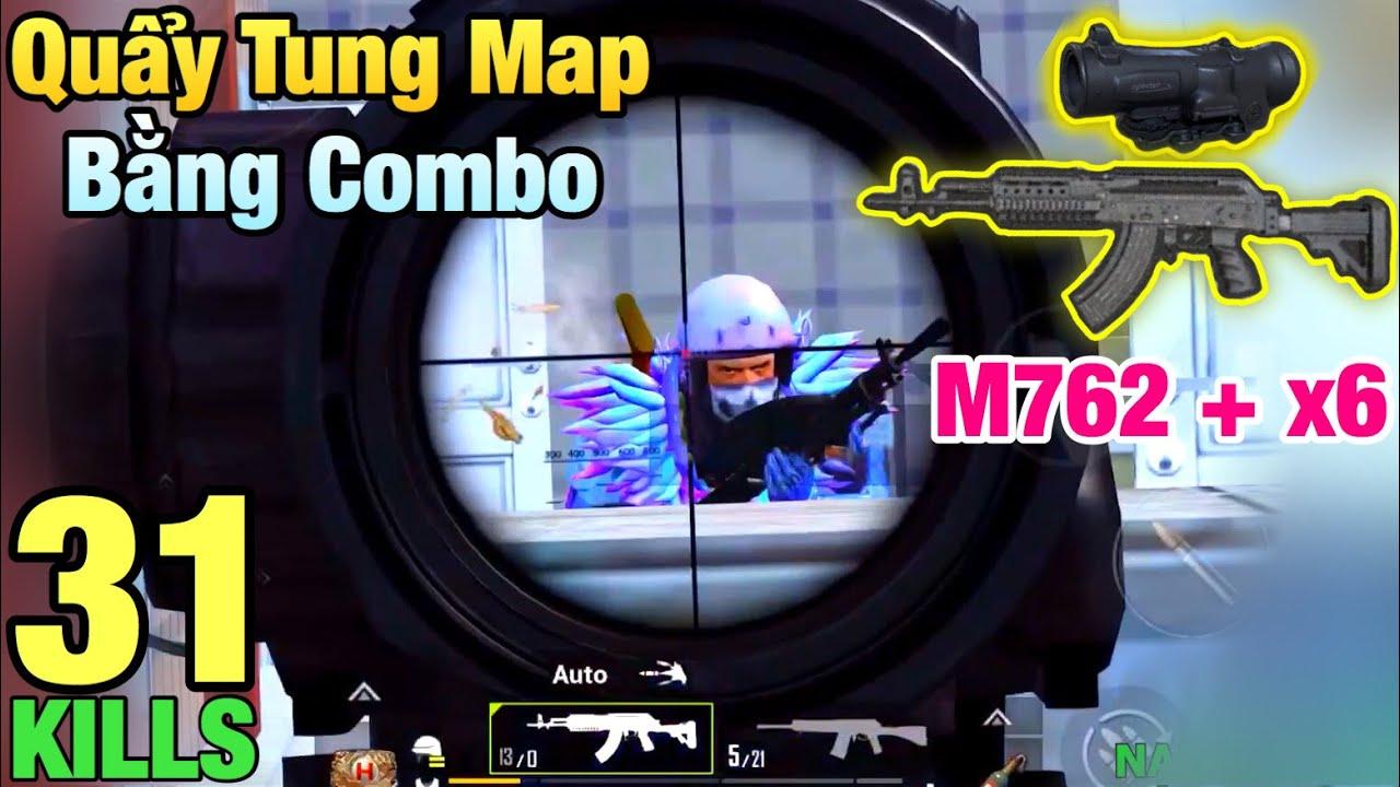[PUBG Mobile] Tacaz Comeback Với Combo M762 + X6 | Sấy Như M416 Không Giật