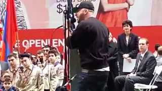 "R-Mean Performs ""Open Wounds"" in Times Square NYC"