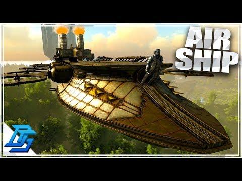 HUGE STEAM AIRSHIP IN ARK? - Ark Survival Evolved - Steampunk Mod