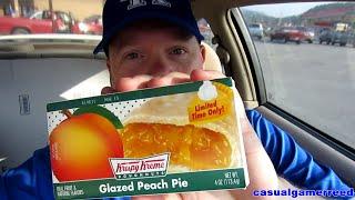 Reed Reviews Krispy Kreme Glazed Peach Pie