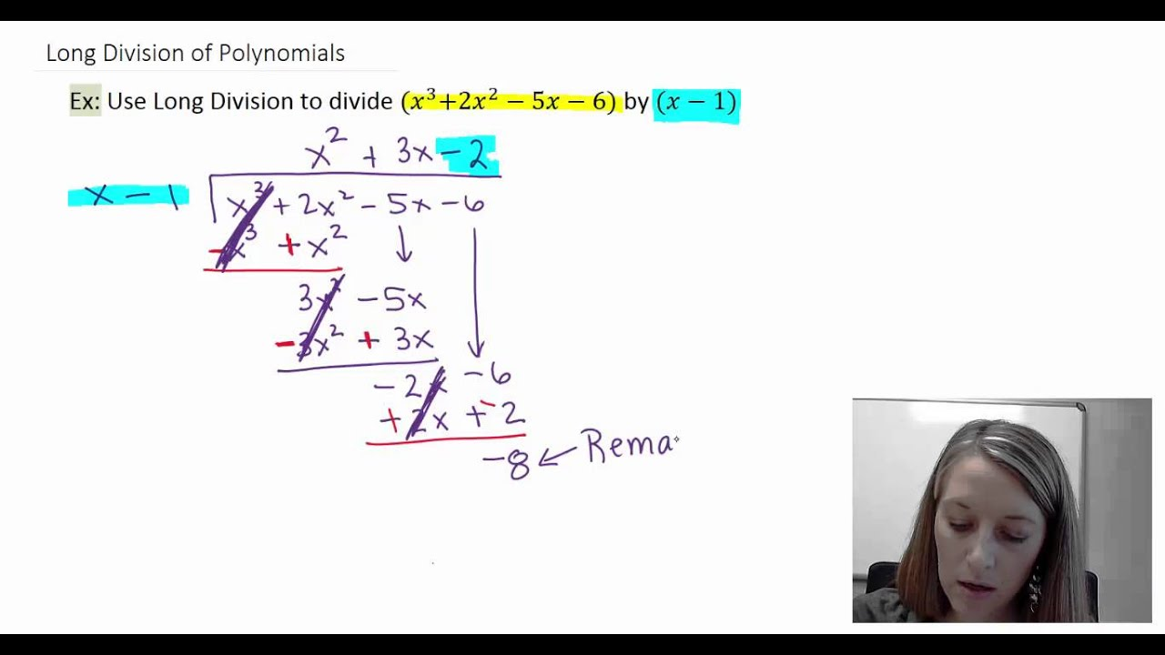 Worksheet Long Division Examples 2 introduction and examples of polynomial long division youtube division