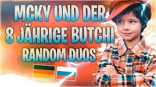 🔀RANDOM DUOS: Mcky und der 8 Jährige Butchi   Fortnite Battle Royale
