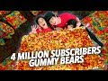 4 MILLION GUMMY BEARS SUBSCRIBERS PARTY | Ranz and Niana
