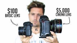 $100 Camera Lens VS. $5,000 Cinema Lens | Explained